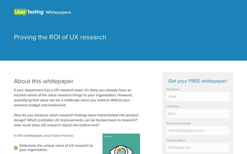 Proving the ROI of UX research | UserTesting