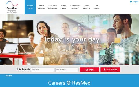 Careers at ResMed | Search Jobs and Apply Online | Make a Difference at ResMed