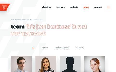 Screenshot of Team Page voxteneo.com - Team | Vox Teneo - captured Oct. 10, 2019