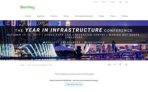 Year in Infrastructure Conference - Singapore, Oct. 10-12, 2017
