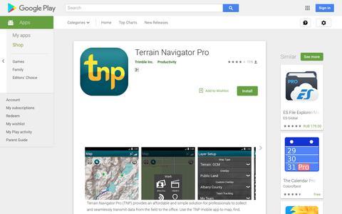 Terrain Navigator Pro - Apps on Google Play
