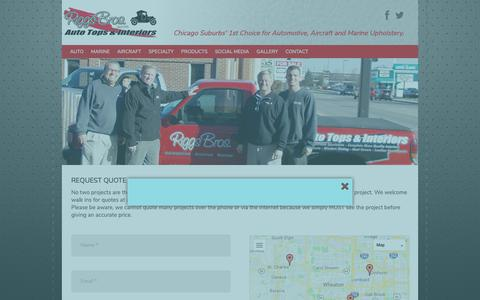 Screenshot of Contact Page riggsbros.com - Request Quote | Riggs Brothers - captured Oct. 18, 2018
