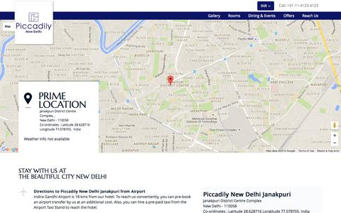 Screenshot of Contact Page piccadilyhotels.com captured Jan. 28, 2016