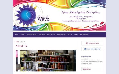 Screenshot of About Page crystalwave.com.au - About Us - Crystalwave - captured April 12, 2017