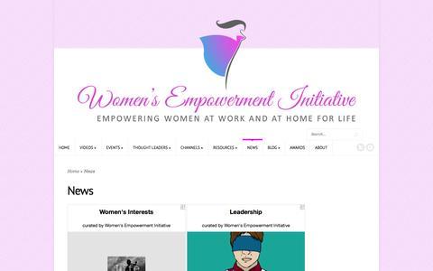 Screenshot of Press Page womensempowermentinitiative.com - Empowered Women's NEWS | - captured Oct. 26, 2014