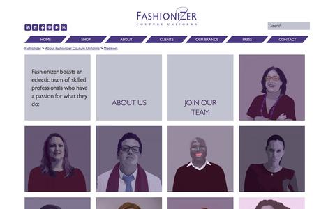 Screenshot of Team Page fashionizer.com - Members Archive - Fashionizer - captured Jan. 8, 2016