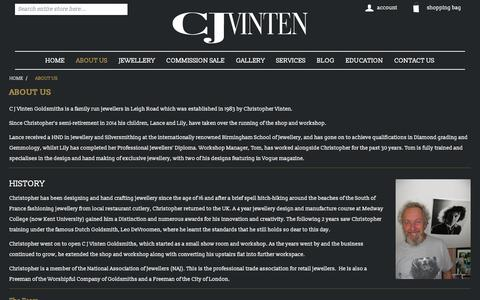 Screenshot of About Page cjvinten.co.uk - CJ Vinten, Leigh-On-Sea, Essex | cjvinten.co.uk - captured Sept. 25, 2018