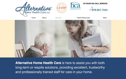 Screenshot of Services Page alternativehomehealthcarellc.com - Alternative Home Health Care | Services - captured May 29, 2017