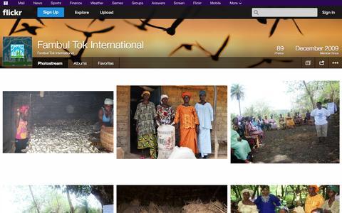 Screenshot of Flickr Page flickr.com - Flickr: Fambul Tok International's Photostream - captured Oct. 23, 2014