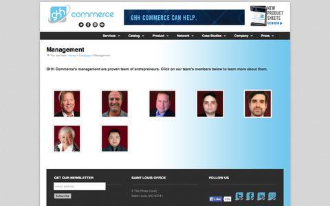 Screenshot of Team Page ghhcommerce.com - Management | GHH Commerce - captured Oct. 22, 2014