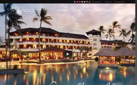 Screenshot of Home Page nusaduahotel.com - Nusa Dua Hotel - Bali, Indonesia - captured Jan. 22, 2015