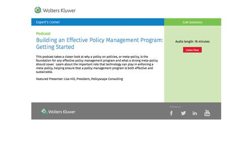 Screenshot of Landing Page datacert.com - Podcast: Building an Effective Policy Management Program - captured Aug. 17, 2016
