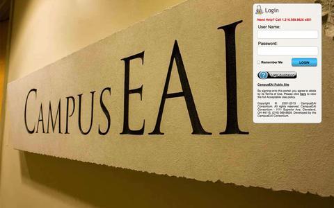 Screenshot of Login Page campuseai.org - myCampus Secure Login - captured Sept. 19, 2014