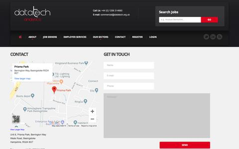 Screenshot of Contact Page datatech.org.uk - Contact Datatech Analytics - captured Sept. 12, 2019