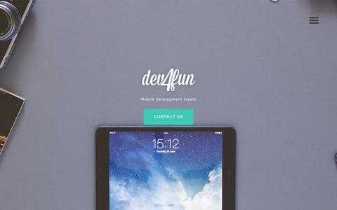 Screenshot of Team Page devforfun.net - iOS Android Development Team Devforfun - Team - captured Jan. 7, 2016