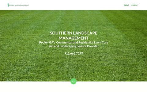 Screenshot of Home Page southernlandscapemgt.com - Southern Landscape Management - captured Feb. 15, 2016