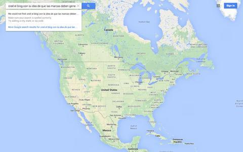 Screenshot of Maps & Directions Page google.com - Google Maps - captured Oct. 29, 2014