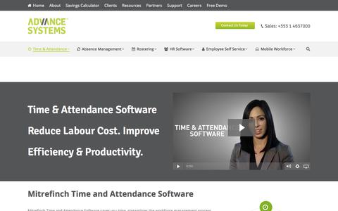 Screenshot of Products Page advancesystems.ie - Time and Attendance Software Top Rated System 2017 - captured Feb. 4, 2018