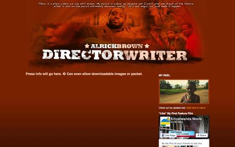 Screenshot of Press Page alricksporch.com - The Official Site of Filmmaker Alrick Brown   » FOR THE PRESS - captured March 7, 2016