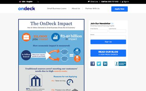 OnDeck Impact Report | Small Business Loans