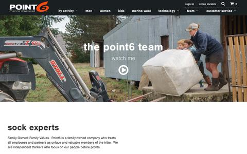 Screenshot of Team Page point6.com - sock experts - Point6 - captured May 19, 2017