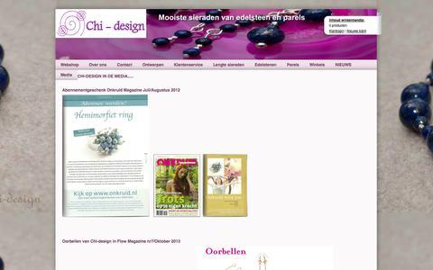 Screenshot of Press Page chi-design.nl - Media - Chi-design Sieraden Edelsteen, Edelsteensieraden, Edelstenen, Sieraden - captured Sept. 26, 2014