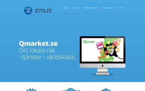 Screenshot of Home Page zitius.com captured Sept. 20, 2015