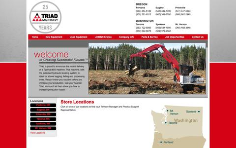 Screenshot of Locations Page triadmachinery.com - Triad Machinery - captured Nov. 9, 2017