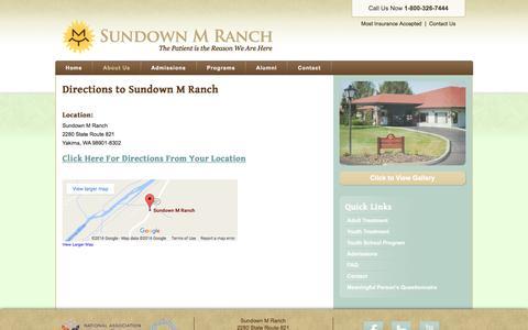 Screenshot of Maps & Directions Page sundown.org - Sundown M Ranch Directions - Sundown M Ranch - captured Dec. 2, 2016