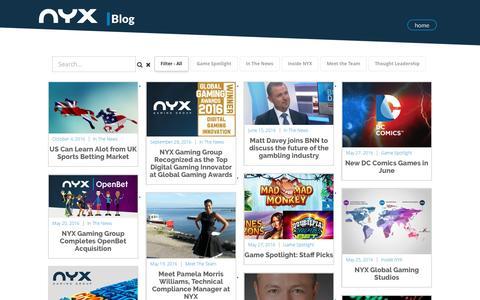 Screenshot of Blog nyxgaminggroup.com - NYX BLOG | NYX Gaming - captured Oct. 18, 2016