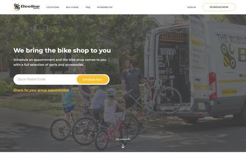 Screenshot of Home Page beelinebikes.com - Beeline Bikes : Mobile Bike Service - captured Nov. 13, 2018