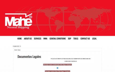 Screenshot of Press Page mahe.com.co - Documentos Legales - captured Nov. 17, 2016