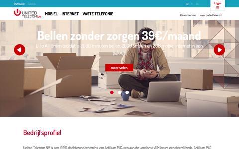 Screenshot of Contact Page united-telecom.be - United Telecom - captured Oct. 7, 2014