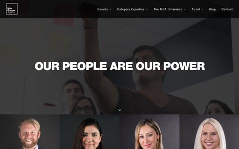 Screenshot of Team Page maxborgesagency.com - Team | Max Borges Agency - captured June 27, 2019