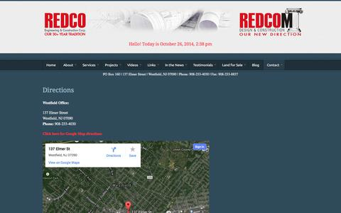 Screenshot of Maps & Directions Page redcomllc.com - Directions | REDCOM - captured Oct. 26, 2014