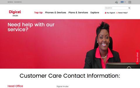 Screenshot of Contact Page digicelgroup.com - Contact Us - captured July 5, 2018
