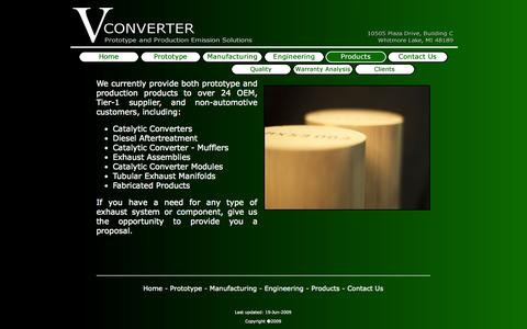 Screenshot of Products Page vconverter.com - Vconverter - Products - captured Oct. 26, 2014
