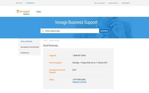 Contact Vonage Support