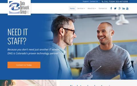 Screenshot of Home Page dngnet.com - Boulder IT Support | Denver IT Support - captured Sept. 12, 2015