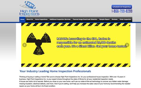 Screenshot of Home Page highpointinspections.com - Visit Our Home Page   High Point Inspections Inc. - captured Dec. 15, 2018