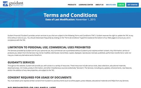 Terms & Conditions | Guidant Financial