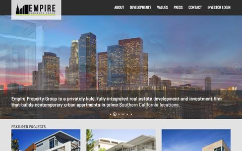 Screenshot of Home Page empirepg.com - Home - Empire Property Group - captured Sept. 19, 2015