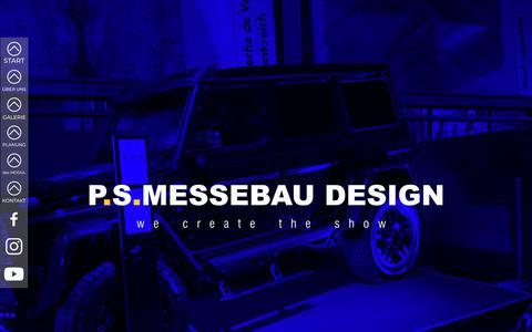 Screenshot of Home Page psmessebau.com - PS MESSEBAU DESIGN - captured Sept. 25, 2018