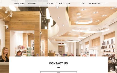 Screenshot of Contact Page scottmillerstyle.com - Contact Us - Scott Miller Salon & Spa Rochester - captured Sept. 30, 2017