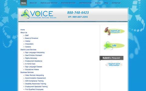 Screenshot of Site Map Page voiceinc-mi.org - VOICE, Inc. - captured Nov. 3, 2014