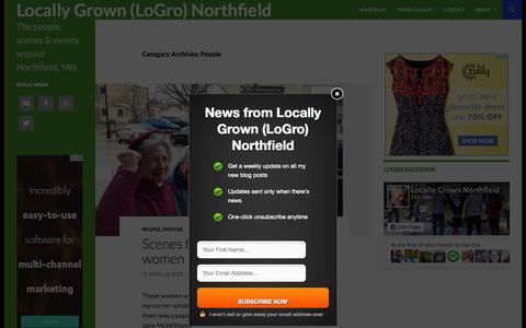 Screenshot of Team Page locallygrownnorthfield.org - People | Locally Grown (LoGro) Northfield - captured July 24, 2015