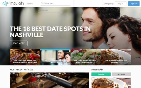 Screenshot of Home Page impulcity.com - Impulcity - captured Sept. 12, 2014