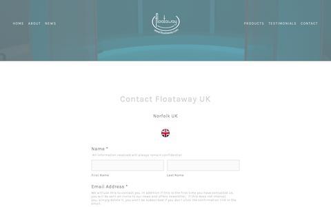 Screenshot of Contact Page floataway.com - Floataway UK — Floataway - captured June 6, 2017
