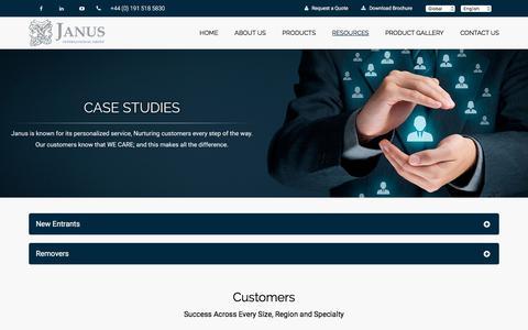 Screenshot of Case Studies Page janusintl.co.uk - Janus International UK Ltd | Case Studies - Self Storage Construction and Design - Janus International - captured Sept. 22, 2018