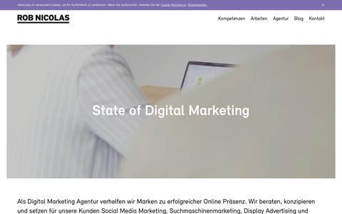 Screenshot of Home Page robnicolas.ch - ROB NICOLAS – Digital Marketing Agentur aus Graubünden - captured Nov. 17, 2018